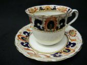 Tuscan china late Edwardian Imari CUP & SAUCER only (1)